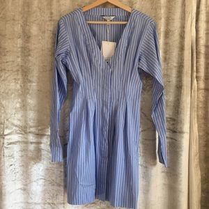 & Other Stories pinstripe v-neck shirtdress - sz 6
